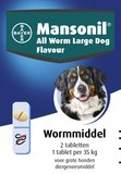 Bayer Mansonil All Worm Large Dog Flavour 2 Tabletten_