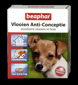Vlooien Anti-Conceptie hond (2,6 tot 6,7kg) 3 tabletten