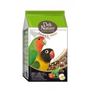 Deli Nature 5* menu Afrikaanse grote parkieten