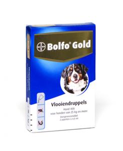 Bolfo Gold Hond 25 tot 40 kg 2 Pipetten